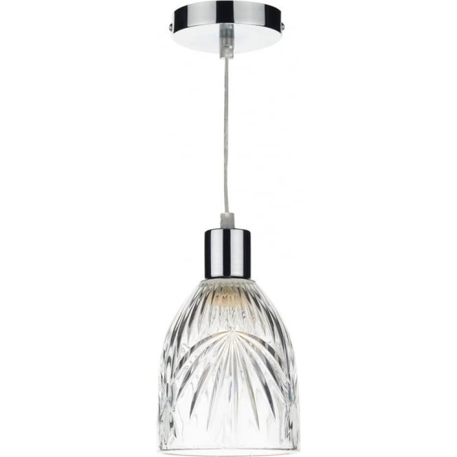 Motif Easy Fit Ceiling Light Pendant Shade with Clear Cut Glass  sc 1 st  Castlegate Lights & Dar Lighting Motif Easy Fit Ceiling Light Pendant Shade with Clear ...