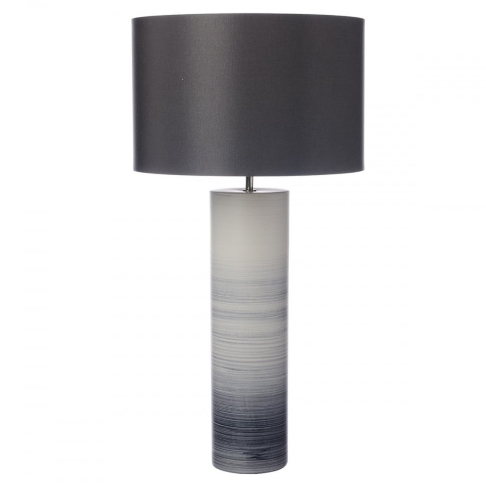 dar lighting nazare single light ceramic table lamp in black and white. Black Bedroom Furniture Sets. Home Design Ideas