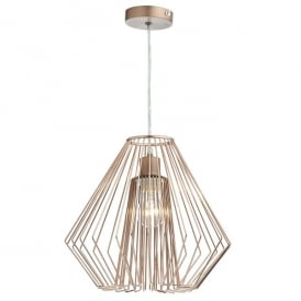 NEE6564 Needle Easy Fit Ceiling Light Pendant Shade In Copper Wirework Finish