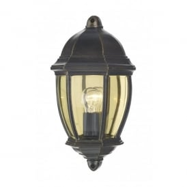 Newport Single Light External Wall Fixture in Black Gold