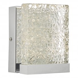 NIH0750 Nihan Single Light LED Wall Fitting In Polished Chrome Finish