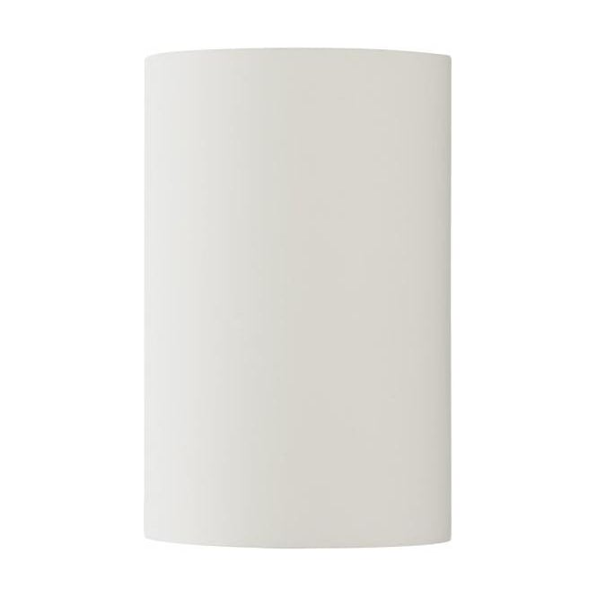 Dar Lighting Oliver 2 Light Cylindrical Ceramic Wall Fitting