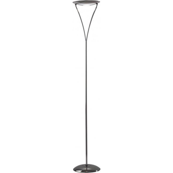 Dar lighting opus single light halogen uplighter floor for Chrome halogen floor lamp