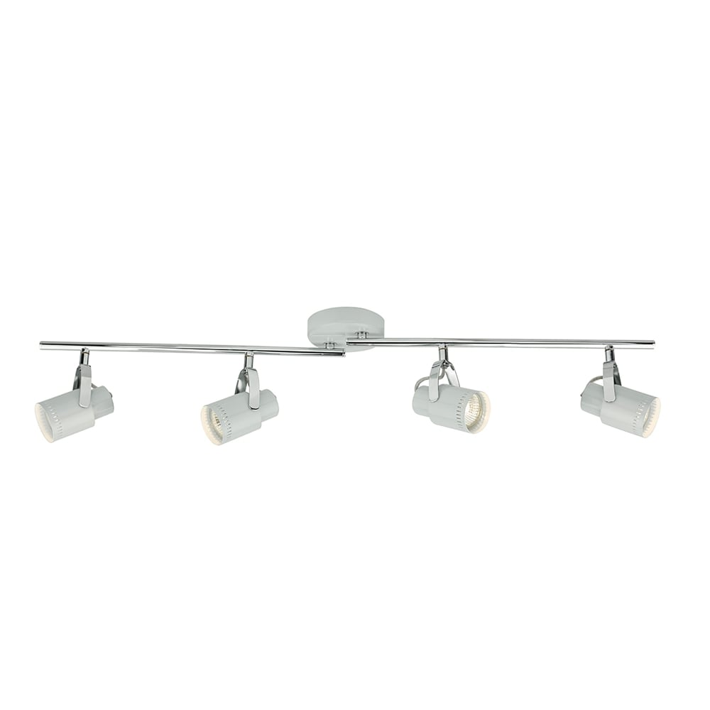 Ceiling Bar Light Fitting : Dar lighting orkney light ceiling bar spotlight fitting
