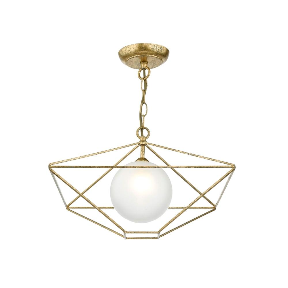 Dar Lighting Orsini Single Light Ceiling Pendant In Old