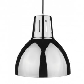 Osaka Ceiling Light Shade Pendant in a Polished Chrome Finish