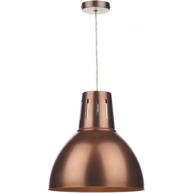 Dar Lighting Osaka Large Easy Fit Ceiling Light Shade Pendant in an Antique Copper Finish