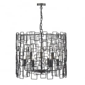 Oxo 9 Light Ceiling Pendant In Matt Black Finish