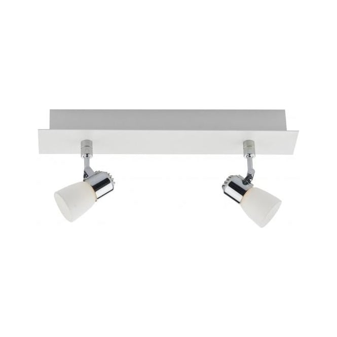 Dar Lighting Oxygen LED 2 Light Spotlight Wall Fitting in White and Chrome Finishes