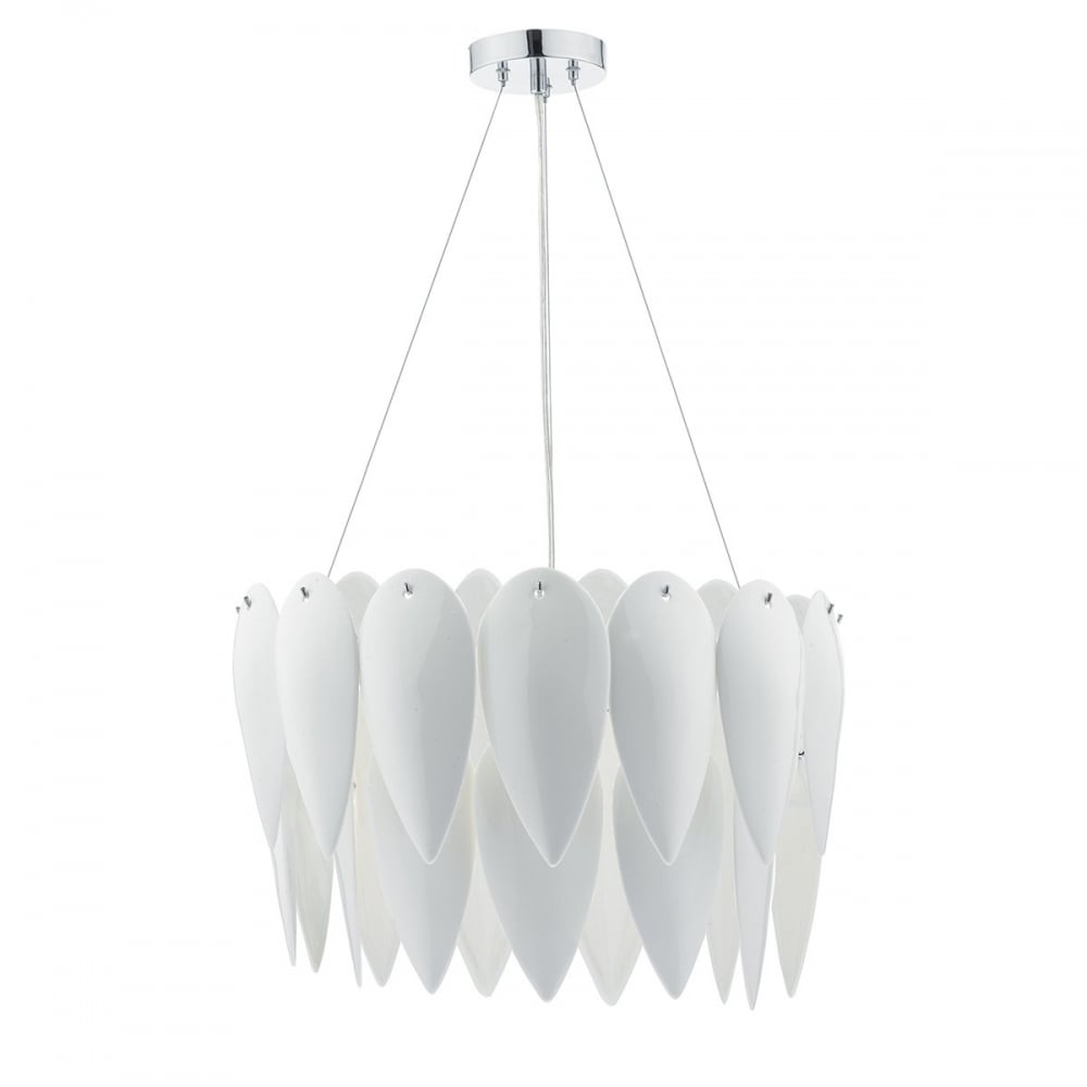 Dar lighting phillipa 3 light ceiling pendant in white ceramic phillipa 3 light ceiling pendant in white ceramic finish aloadofball Gallery