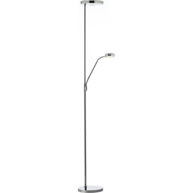 Pioneer Mother And Child LED Floor Lamp In A Black Chrome Finish