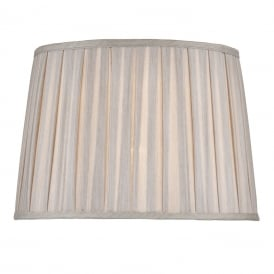 Pleated Taupe Faux Silk Shade
