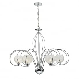 Rafferty 6 Light Dual Mount Ceiling Pendant In Polished Chrome Finish