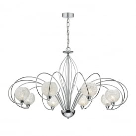 Rafferty 8 Light Dual Mount Ceiling Pendant In Polished Chrome Finish