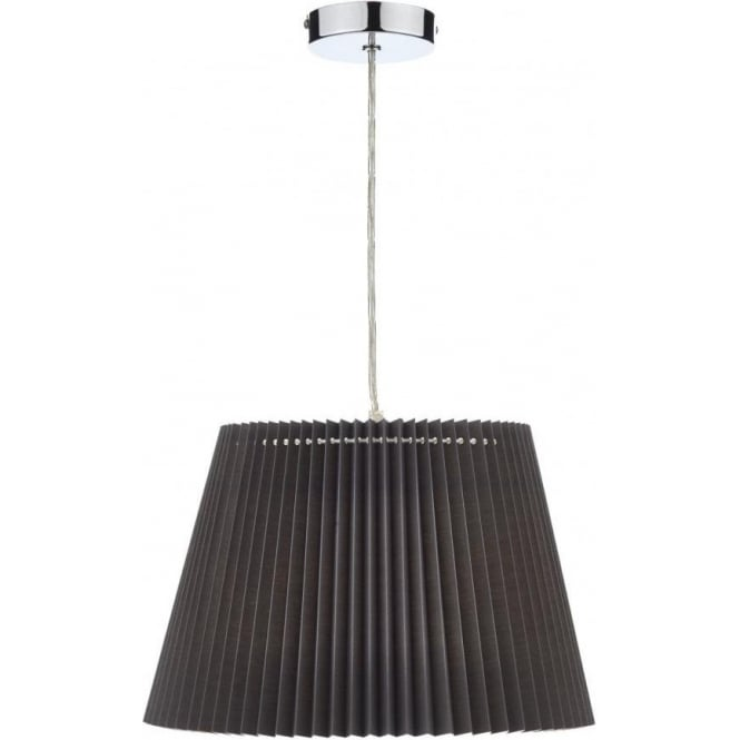 Dar Lighting Razor Ceiling Light Large Micro Pleated Shade In Grey Finish