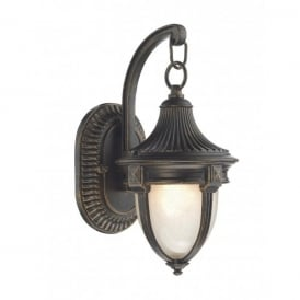 RIC3235 Richmond Single Light Outdoor Wall Lantern in Black Gold Finish