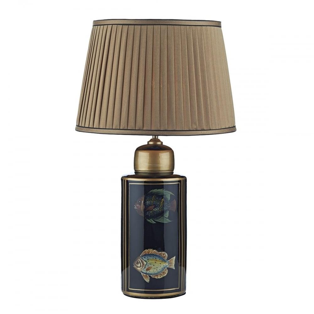 Dar lighting rio single light ceramic table lamp base only in black rio single light ceramic table lamp base only in black and gold finish mozeypictures Images