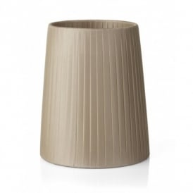 "S1071 Ribbon 6"" Taupe Candle Bulb Shade"