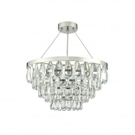 Sceptre 3 Light Ceiling Pendant In Polished Chrome And Clear Glass Finish