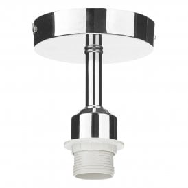 Single Light Semi Flush Suspension kit In Polished Chrome Finish
