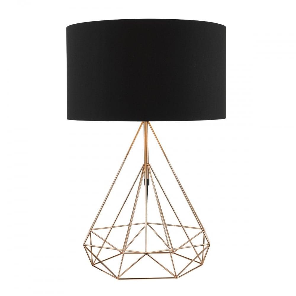 table lamps romy 1 light table lamp in black black shade tab