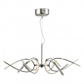 Tetra LED Ceiling Pendant in Polished Chrome Finish