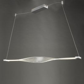Twist Single Light Ceiling Pendant in Silver Finish