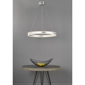 Tybalt LED Ceiling Pendant In Silver Finish With Acrylic Light Diffuser