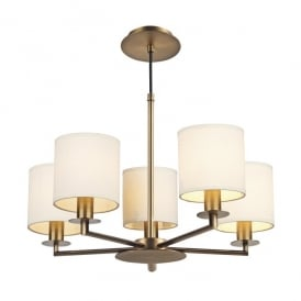 Tyler 5 Light Multi Arm Ceiling Fitting In Rustic Bronze Finish