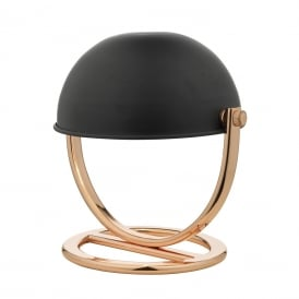 Ubeda Single Light Adjustable Table Lamp In Black And Copper Finish