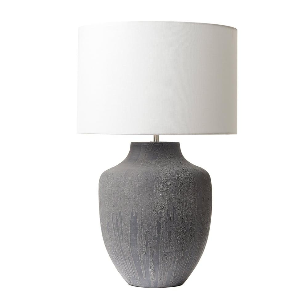 Dar lighting udine single light table lamp base only in grey finish udine single light table lamp base only in grey finish aloadofball Choice Image
