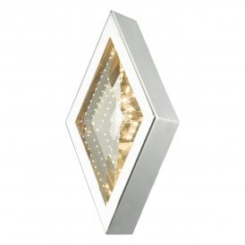 VAE0750 Vaeda Single Light LED Wall Fitting In Polished Chrome And Crystal Finish