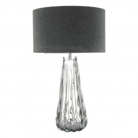 Vezzano Single Light Table Lamp Murrano Smoked Glass Base Only