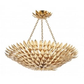 Volcano 5 Light Decorative Ceiling Pendant with a Gold Finish