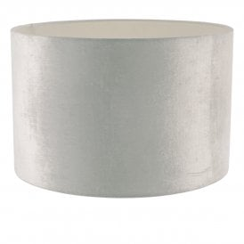 Yabel Medium Easy-Fit Cream Velvet Drum Shade