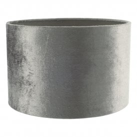 Yabel Medium Easy-Fit Grey Velvet Drum Shade