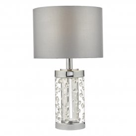 YAL4108 Yalena Single Light Small Table Lamp in Polished Chrome Finish