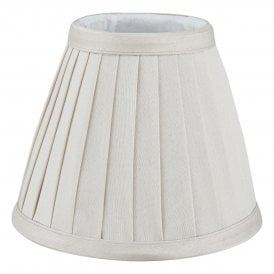 YOV0515 Yovanna Pleated Ivory Faux Silk Shade