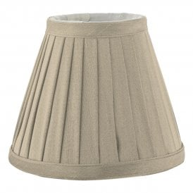 Yovanna Pleated Taupe Faux Silk Shade