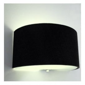 ZAR0122 Zaragoza Single Light Wall In Black