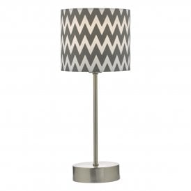 Ziggy Single Touch Table Lamp Fitting in Satin Nickel Finish