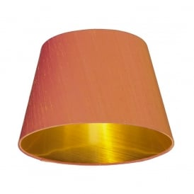 Zuccaro 100% Silk Shade in Firefly Orange Finish With Bronze Laminate Lining