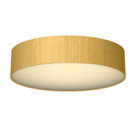 PAO4835 Paolo 4 Light Flush Ceiling Fitting with a Citron 100% Silk Shade