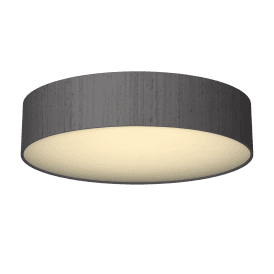 Paolo 4 Light Low Energy Flush Ceiling Fitting with a Charcoal 100% Silk Shade