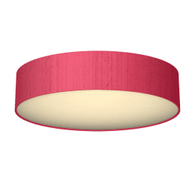 Paolo 4 Light Low Energy Flush Ceiling Fitting with a Peony 100% Silk Shade