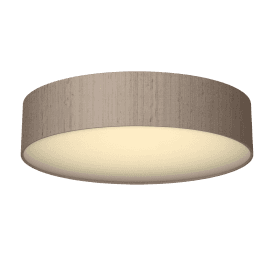 Paolo 4 Light Low Energy Flush Ceiling Fitting with a Truffle 100% Silk Shade