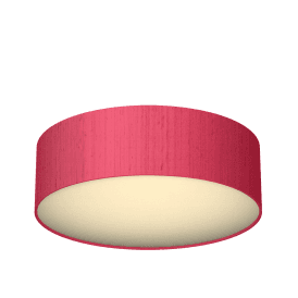 Paolo 50cm Flush Ceiling Fitting With Peony 100% Silk Shade