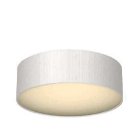 Paolo Flush Ceiling Fitting with Ivory Silk Shade