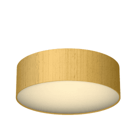 Paolo LED Flush Ceiling Fitting with Citron 100% Silk Shade