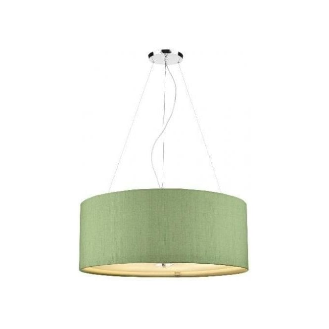 Dar silk collection renoir large 6 light 90cm ceiling pendant with renoir large 6 light 90cm ceiling pendant with silk shamrock green shade aloadofball Image collections